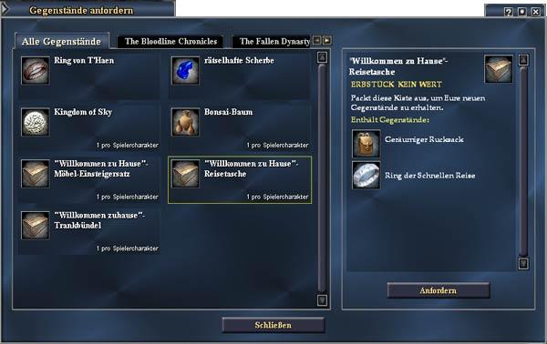 EverQuest 2 - Belohnungen anfordern: 30er Tasche und Ring der schnellen Reise
