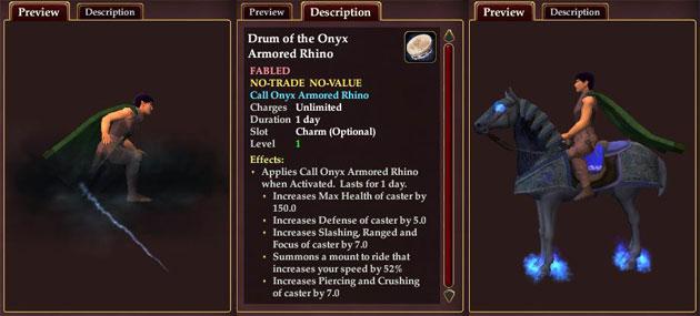 """Everquest 2 Extended: Ansicht und Beschreibung der """"Reittiere"""" im Marketplace"""