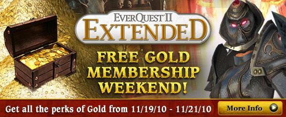 Everquest 2 Extended: Gold Mitgliedschaft zum Testen
