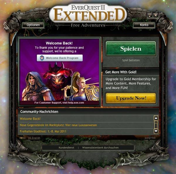 14.05.2011 - Everquest 2 ist wieder online