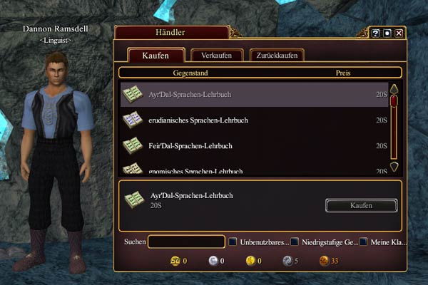 EverQuest 2 - Linguist Dannon Ramsdell in Neu-Halas