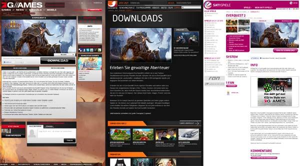 EverQuest 2 auf den Seiten der TV Sender