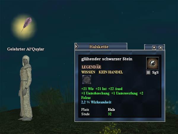EverQuest 2 Erbequest - Ein seltsamer schwarzer Stein