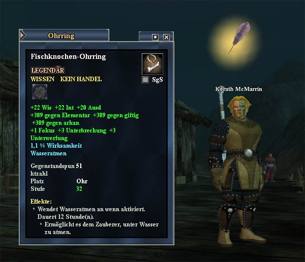 EverQuest 2 Erbequest -  Haddens Ohrring