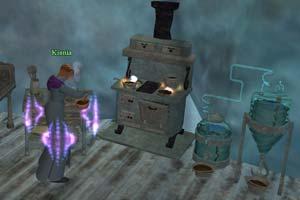 EverQuest 2 - Handwerkerin bei der Arbeit