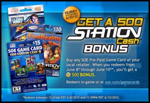 EverQuest 2 - SOE gibt 500 SC Bonus für Game Cards