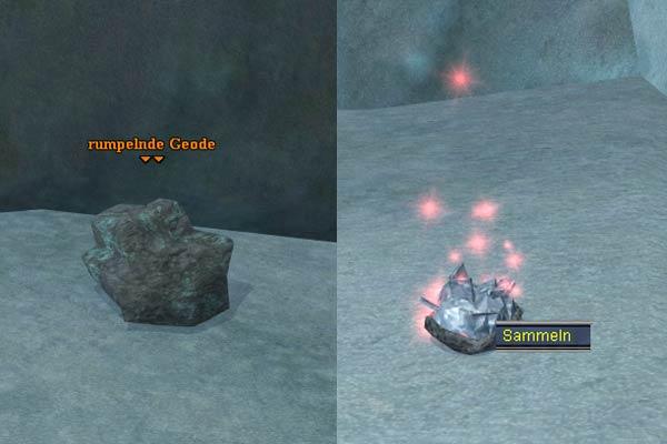 EverQuest 2 - Rote Velium-Kristalle in den rumpelnden Geoden