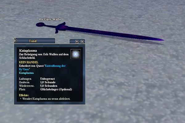 EverQuest 2 - Benutzt das Kataplasma zum Reinigen der Waffen