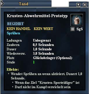 EverQuest 2 - Krusten-Abwehrmittel-Prototyp