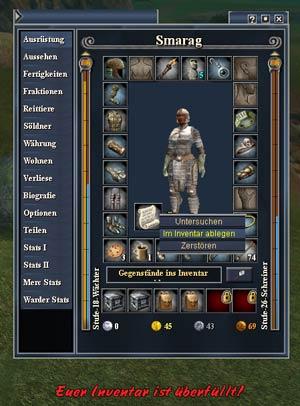 EverQuest 2 - Items aus dem Überfluss ins Inventar bewegen