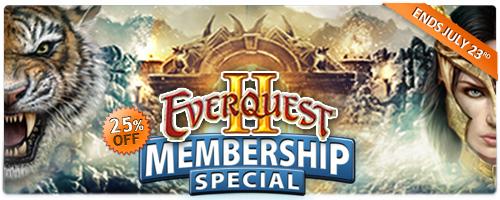 EverQuest 2 - Angebot für Gold-Mitgliedschaften