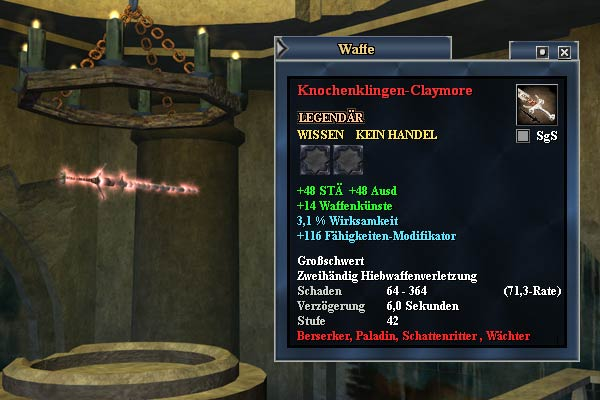 "EverQuest 2 - Erbequest ""Das Knochenklingen Claymore"""