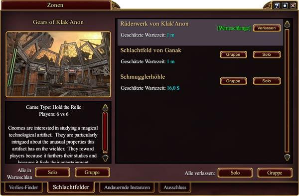 EverQuest 2 - Schlachtfeld über das Zonen-Fenster besuchen