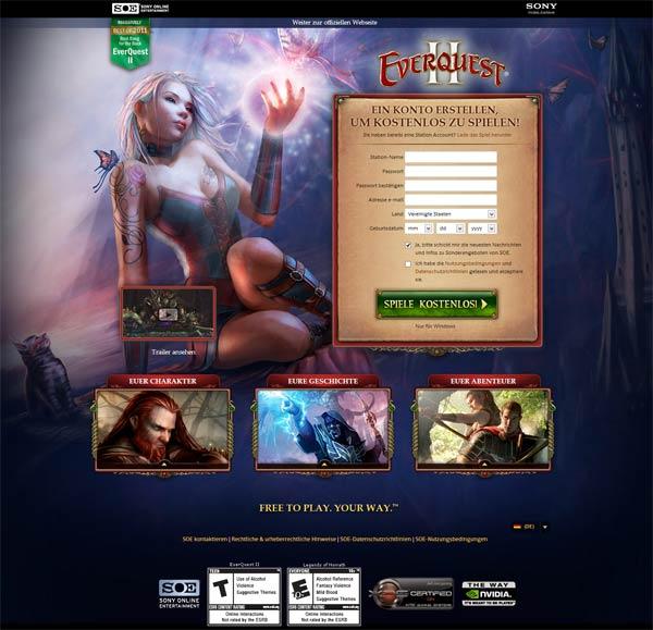 Neue Einsteiger-Seite für EverQuest 2