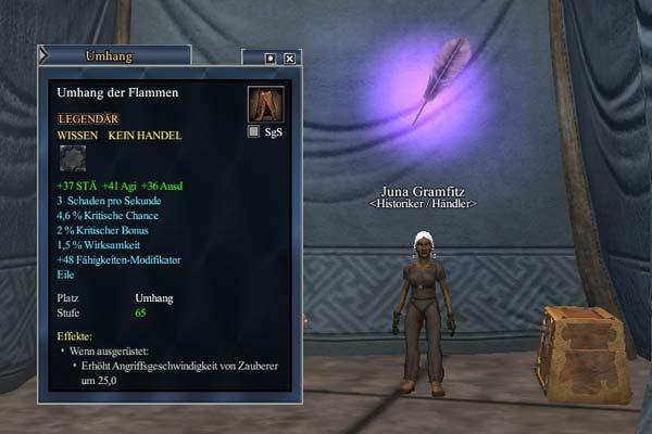 """EverQuest 2 - ErbeQuest """"Umhang der Flammen"""""""