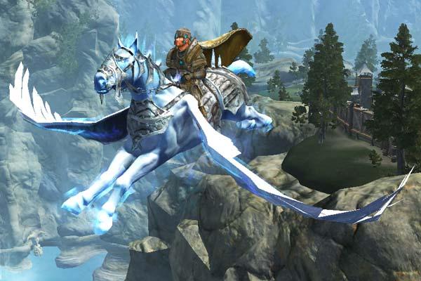 EverQuest 2 - Heroischer Charakter mit Pegasus Flugmount