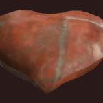 Herz-Kissen mit Lederflicken